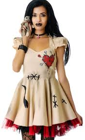 scary womens costumes voodoo doll costume lip service voodoo doll costume dolls kill
