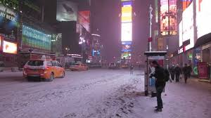 winter snow hercules in times square nyc january 3rd 2014