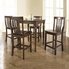 shop crosley furniture vintage mahogany dining set with square