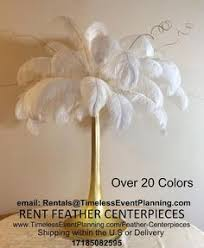 Wedding Feathers Centerpieces by Lincolnshire Marriott Wedding Photos Great Gatsby Theme