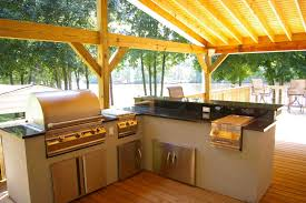 patio kitchen islands extensive wooden patio canopy for l shaped concrete outdoor