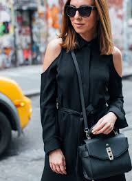 day to night in a cold shoulder little black dress 2017 fashion