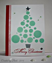 hero arts circle christmas tree stencil christmas cards
