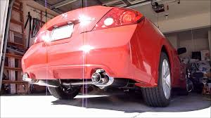 nissan altima two door 2 5 altima coupe w stillen exhaust youtube