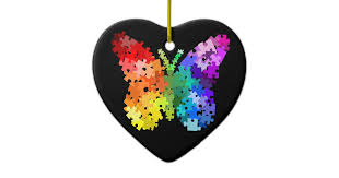 autism awareness puzzle butterfly ornament zazzle