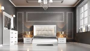 Contemporary White Bedroom Furniture Carmen White Modern Bedrooms Bedroom Furniture