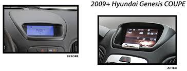 hyundai genesis coupe navigation system unav 2009 up hyundai genesis coupe oem integrated navigation sys