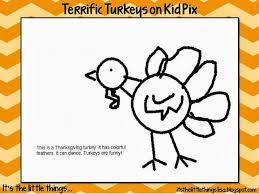 adorable turkeys on kid pix 1st grade computer lab thanksgiving