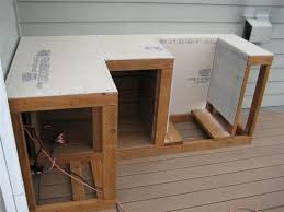 Outdoor Kitchen Furniture - framing use cement board without plywood for outdoor kitchen