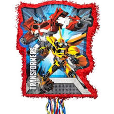 transformer pinata pull string transformers pinata 17 1 2in x 21 1 2in party city