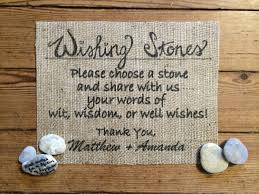 signing stones for wedding burlap wishing stones sign wedding burlap decor