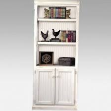 Bookcases With Doors Uk Hton 3 Pc Bookcase Wall W Doors In Pearl White Finish