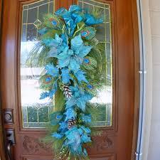 lovely teardrop blue door swags charming gliterred