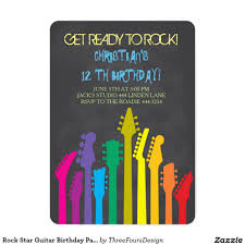 guitar birthday party invitation rock out by eventfulcards 14 99