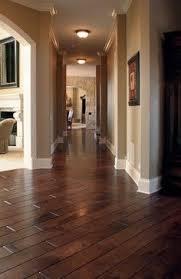 dark floors white trim warm walls love this home decor