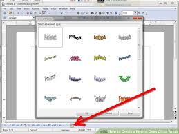 open office brochure template how to create a flyer in open office writer 8 steps