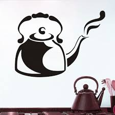compare prices on kitchen tiles size online shopping buy low wall stickers steaming cafe kettle kitchen restaurant large size hollow out vinyl stickers wall art stickers