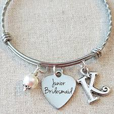 personalized wedding jewelry jr bridesmaid bracelet junior bridesmaid gift personalized