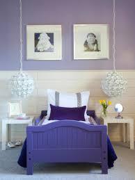 apartment bedroom room decoration in purple colour decorating