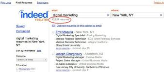 Resume Postings How To Use Indeed Resume Search