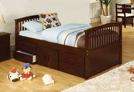 furniture of america dark walnut brinkley mission style captain bed