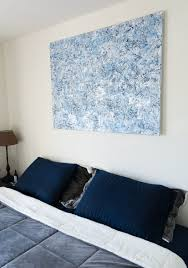 custom wall decor ideas for the bedroom abstract canvas above bed