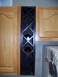 gap between fridge and cabinets custom made wine rack genius to fill gaps between cabinet and