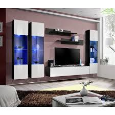armoire chambre fly ensemble meuble tv mural fly c avec led