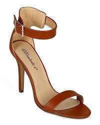 shoes breckelles cc05 women leatherette open toe single band ankle