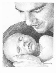 father u0026 baby son drawing by mike theuer wetcanvas