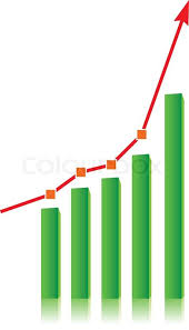 growing chart growing bull trend chart stock vector colourbox