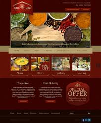 little delhi indian restaurant bootstrap html template on behance
