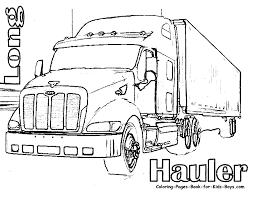 14 printable pictures of semi truck free page print color craft
