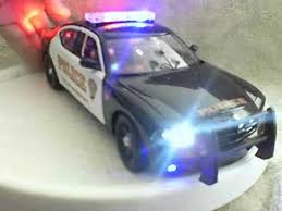 Bridgeport Conneticut Police Diecast Model Car With Working Lights
