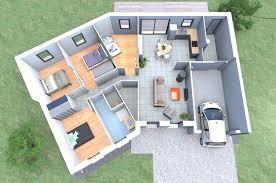 plan de maison en v plain pied 4 chambres un plan 3d de maison 4 chambres originale avec une forme en v qu