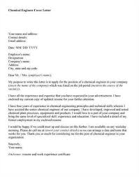 chemical engineer cover letter chemical engineer cover letter