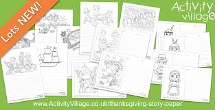 new thanksgiving story paper designs for all ages