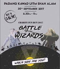 charity fun run battle of the wizard 2017 just run lah