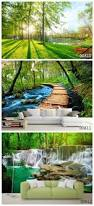 Forest Mural by Wood Wallpaper Landscape Painting 3d Office Theme Hotel Guest Room