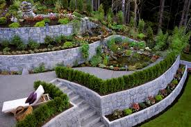 Sloping Backyard Landscaping Ideas Triyae Com U003d Terraced Backyard Landscaping Design Various Design