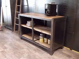 meuble de cuisine style industriel meuble de rangement cuisine bois métal sur mesure micheli design