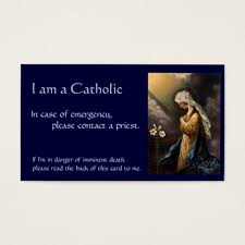 catholic id card in of emergency zazzle