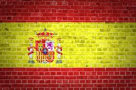 Barcelona Spain Flag Spanish Flag Brick Wall