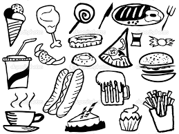 printable 34 junk food coloring pages 10089 junk food coloring