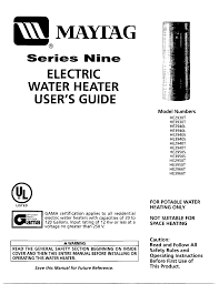 maytag water heater he2950t user guide manualsonline com