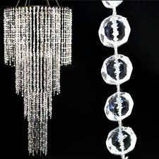 wedding backdrop ebay 10m white beaded curtains multi diamond cut hanging