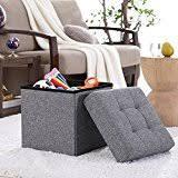 Grey Tufted Ottoman Amazon Com Grey Ottomans U0026 Storage Ottomans Accent Furniture