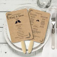 wedding fan program template editable wedding fan program rustic from bsnpartyart on etsy