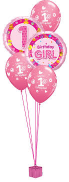 birthday girl 1st birthday balloon bouquet party fever