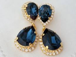 navy blue earrings navy blue earringsnavy blue chandelier earringsdangle dangle